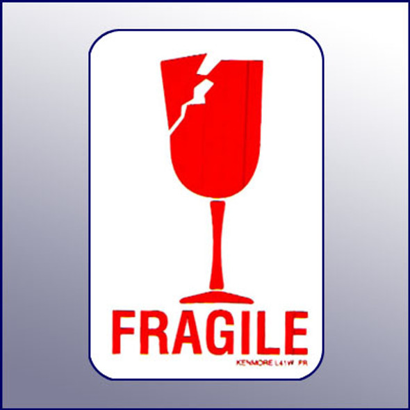 Fragile Label 4X2