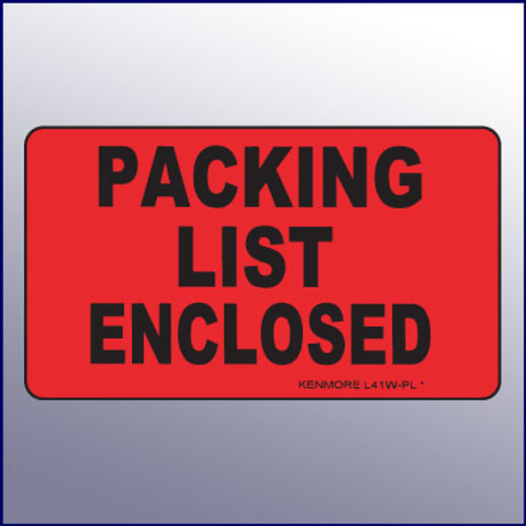 Packing List Enclosed 4X3 Label