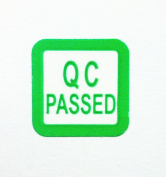 "QC Passes Micro Quality Control Label 1/2"" X 1/2"""