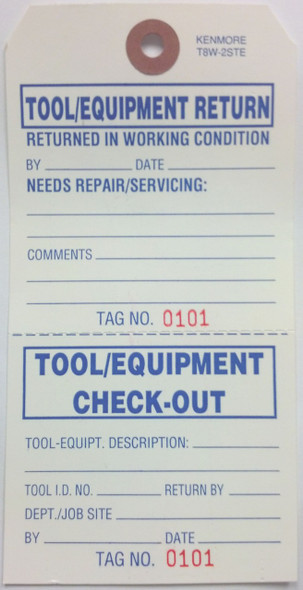 Tool and Equipment Return Tag