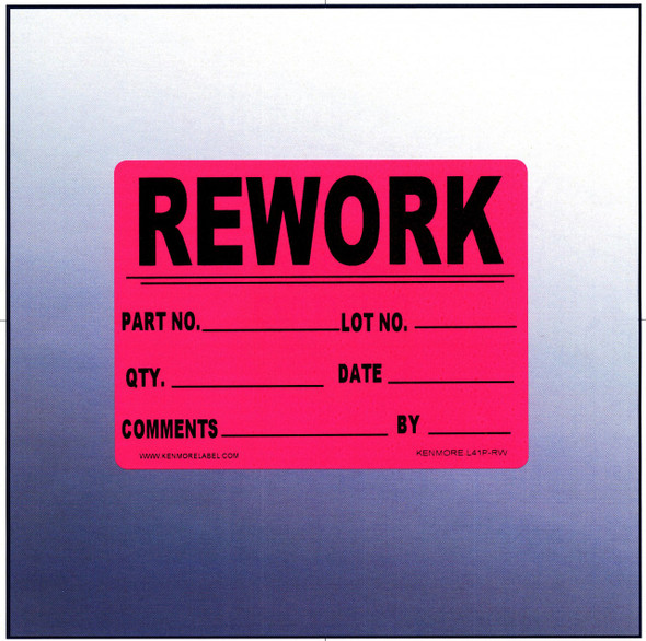 Rework Quality Assurance Label 4 x 3