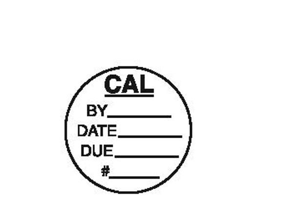 Round Calibration Label 3/4 dia.
