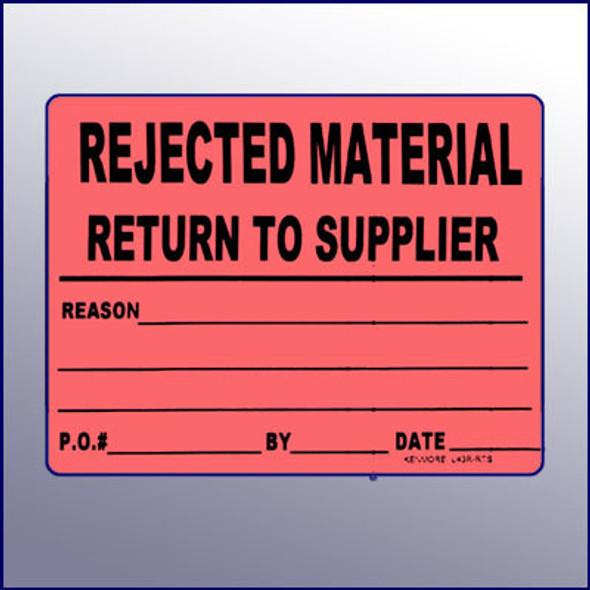 Return Material Label 4 x 3