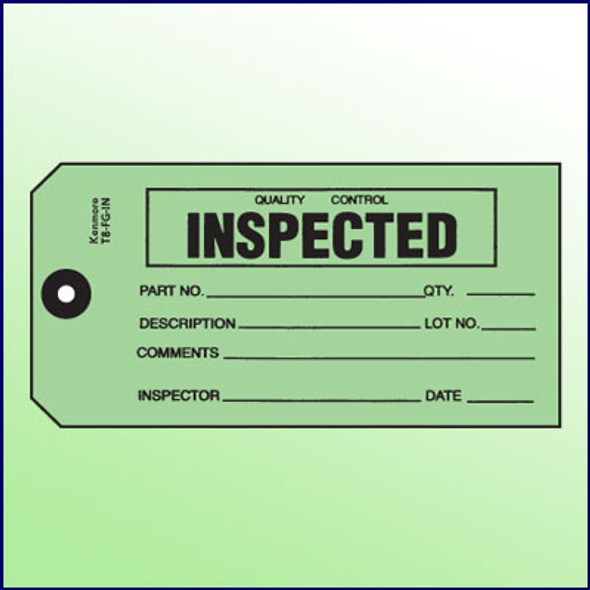 Quality Control Inspected Tag - Size #8