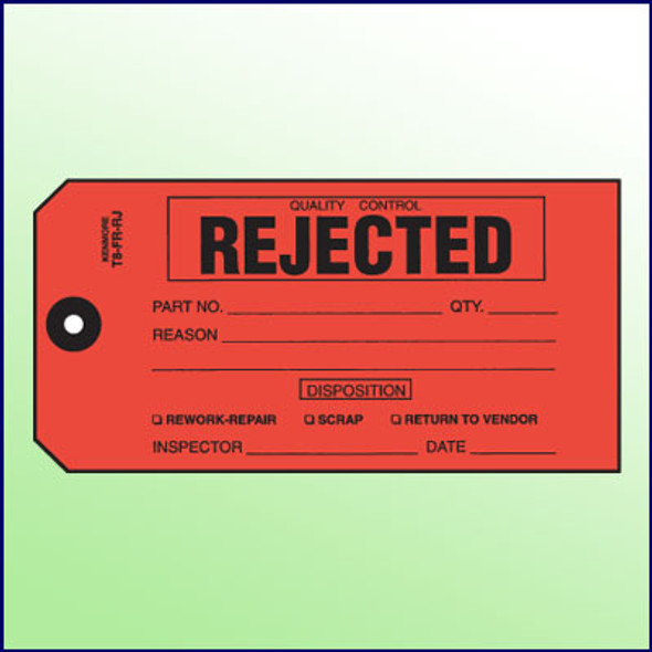 Quality Control Rejected Tag - Size 8