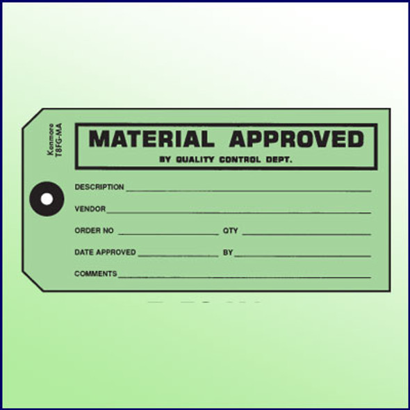 Material Approved Tag - Size 8