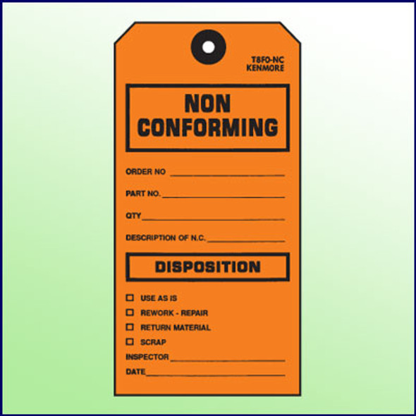 Non Conforming/Disposition Tag - Size #8