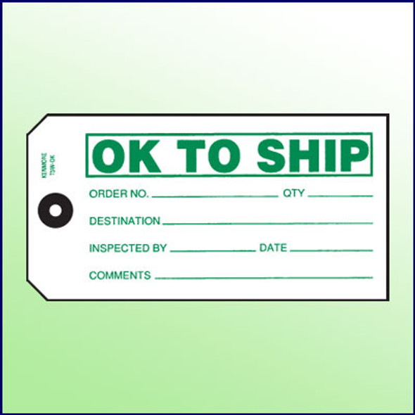 OK to Ship Tag - Size 5
