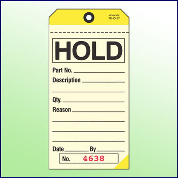 Hold Tag - 2 Part