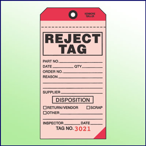 Reject Tag-2 Part