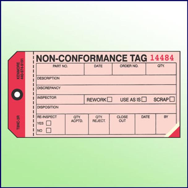 Non-Conformance Tag  3 Part