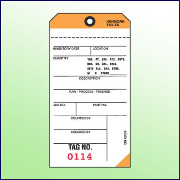 2Part NCR Tags (Orange)