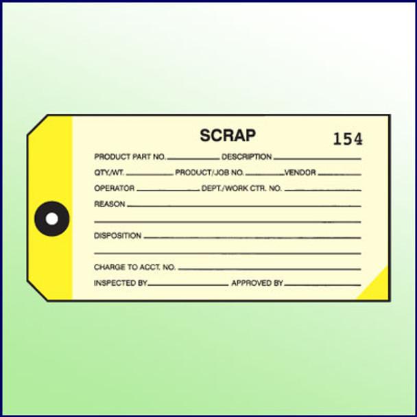 2-Part Scrap Inspection Tag #000-499