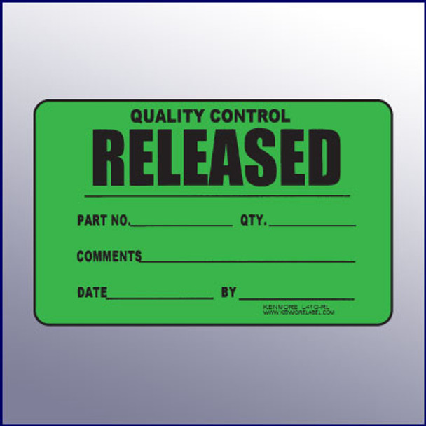 Released Quality Control Label 4 x 3