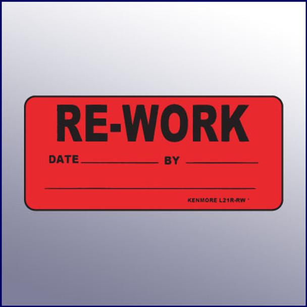 Re-work Label 4 x 2