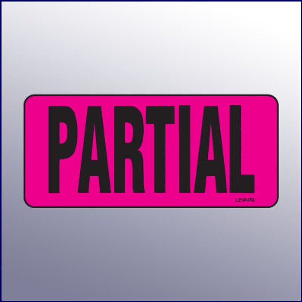 Partial Quality Control Label  4 x 2