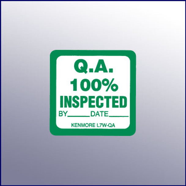 100% Inspected Quality Assurance Label 1-3/4 dia.
