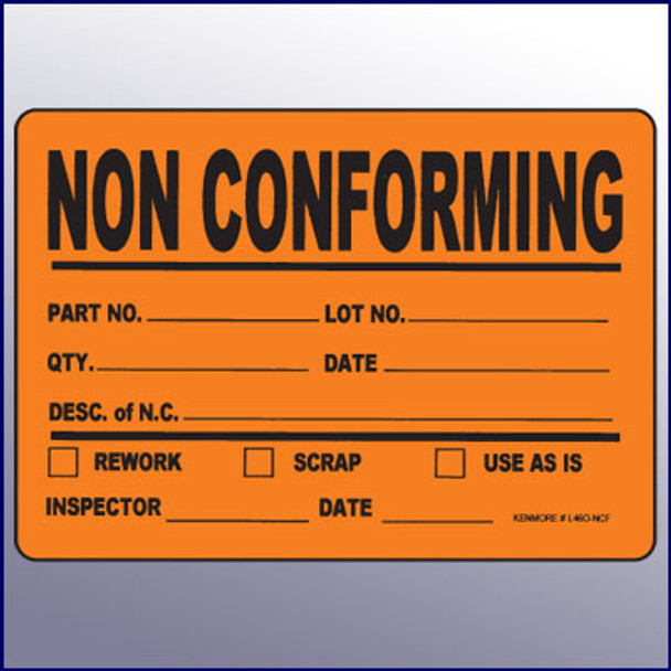 Non Conforming Large Label 4 x 6