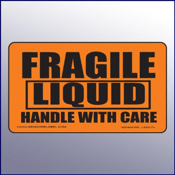 Fragile Liquid/Handle With Care Label