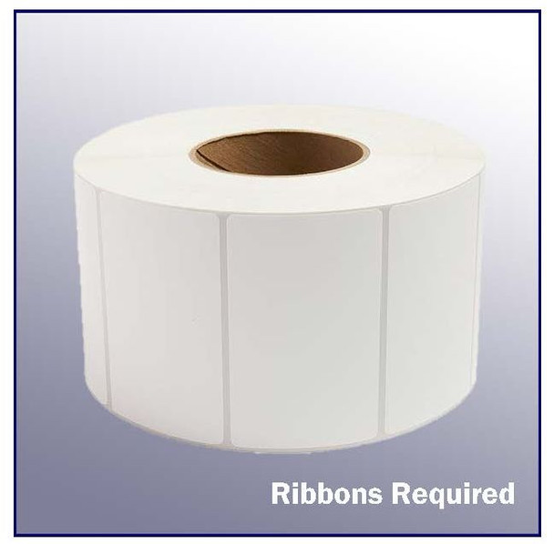 4 x 2.5 White Thermal Transfer Label