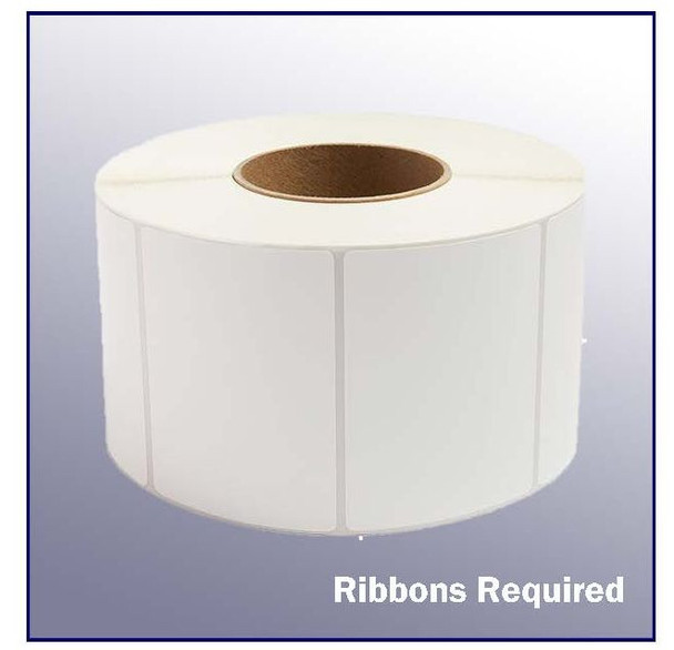 4 x 3 White Thermal Transfer Label