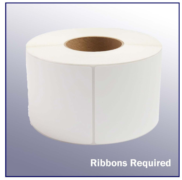 4 x 6 White Thermal Transfer Label