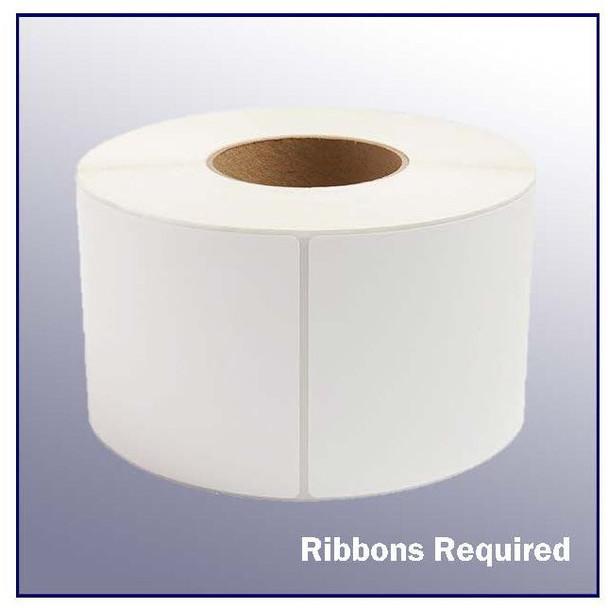 4 x 8 White Thermal Transfer Label