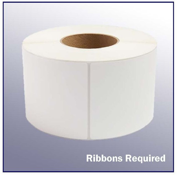 4 x 13 White Thermal Transfer Label