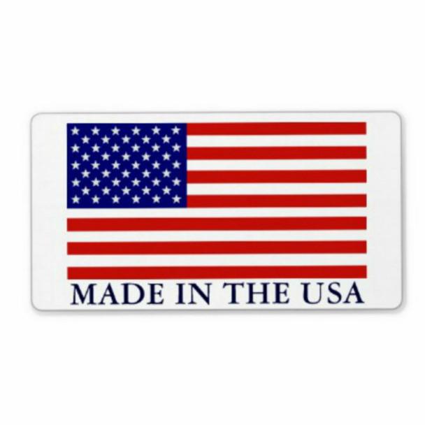 "Made in USA -  2-1/2"" x 4"" Sticker"