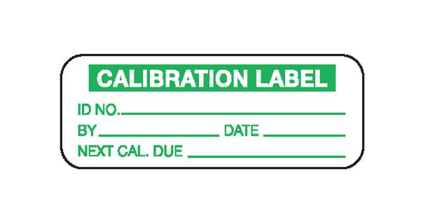 Calibration Label 3/4 x 2