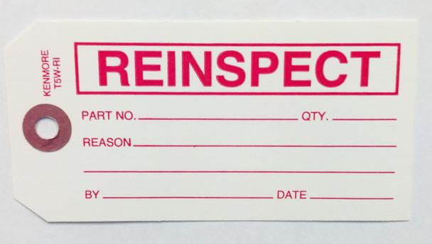 Reinspect Tag - Size #5