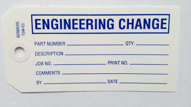 Engineering Change Tag - Size 5