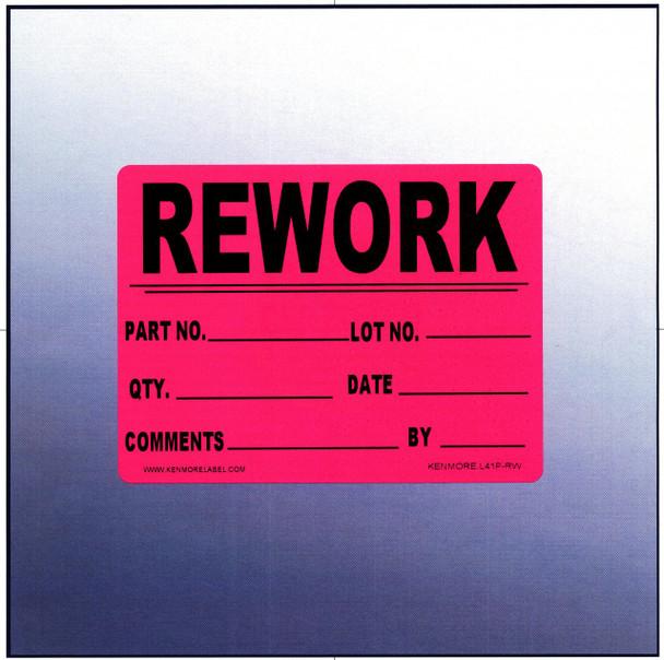Rework Quality Assurance Label 4 x 3