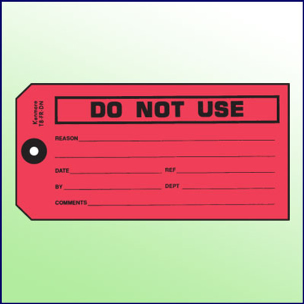 Do Not Use Tag
