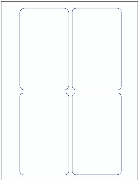 3 x 5- Stock Laser / Ink Jet Label