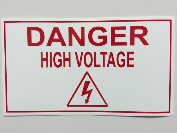 DANGER HIGH VOLTAGE LABEL