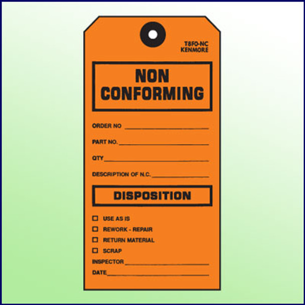 Non Conforming/Disposition Tag - Size #8