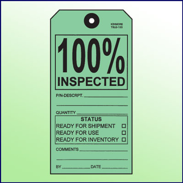 100% Inspected Tag - Size 8