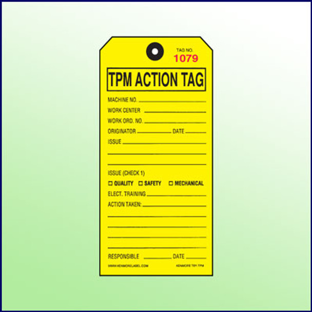 5S Total Production Management Tag