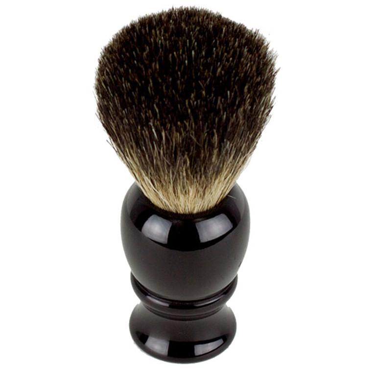 Hirsh Luxury Black Badger Shaving Brush - Black (HL-KB15K)