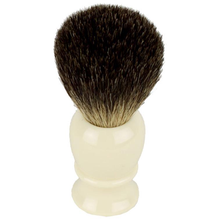 Hirsh Luxury Black Badger Shaving Brush - Ivory (hl-kb15r)