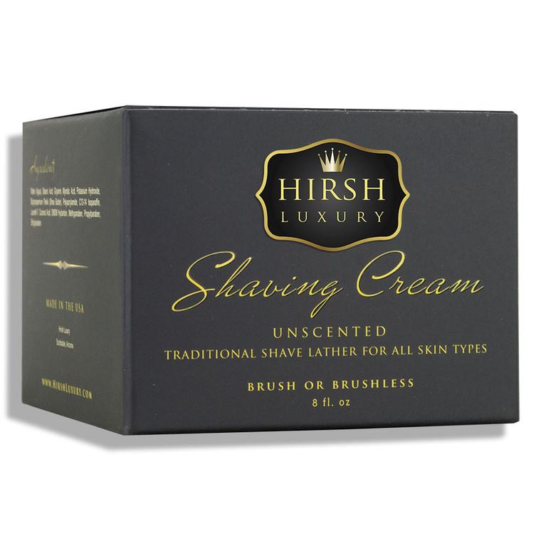 Hirsh Luxury Shaving Cream - Unscented - 8 oz.