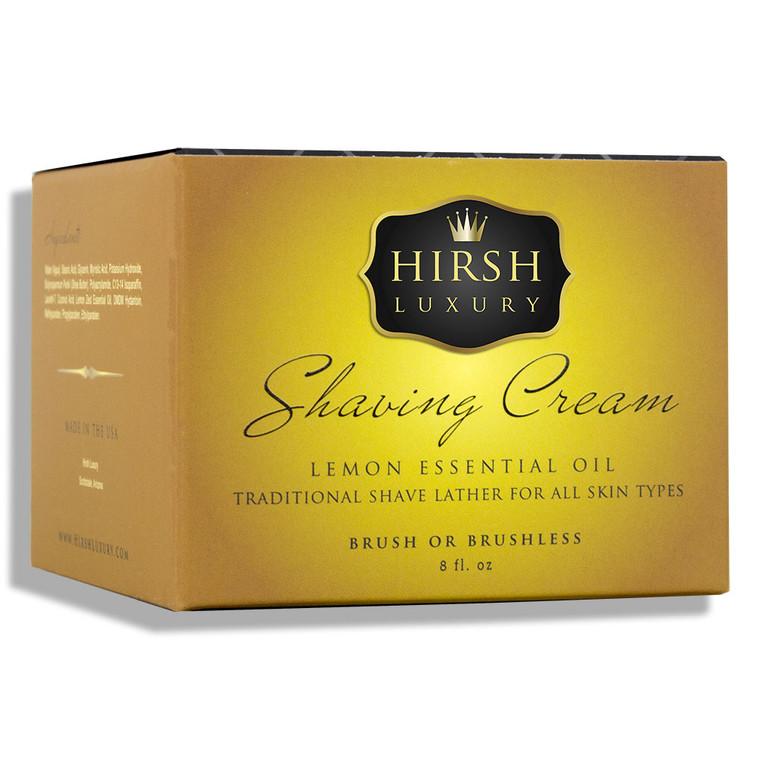 Hirsh Luxury Shaving Cream - Lemon Essential Oil - 8 oz.