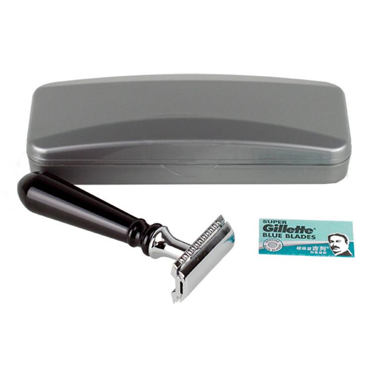 Hirsh Luxury Razor - Black Resin - Double Edge Safety Razor (HL-S15KS)