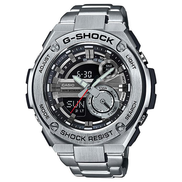 Casio G-Shock G-Steel 2nd Generation 3D Black Dial GST210D-1ACR