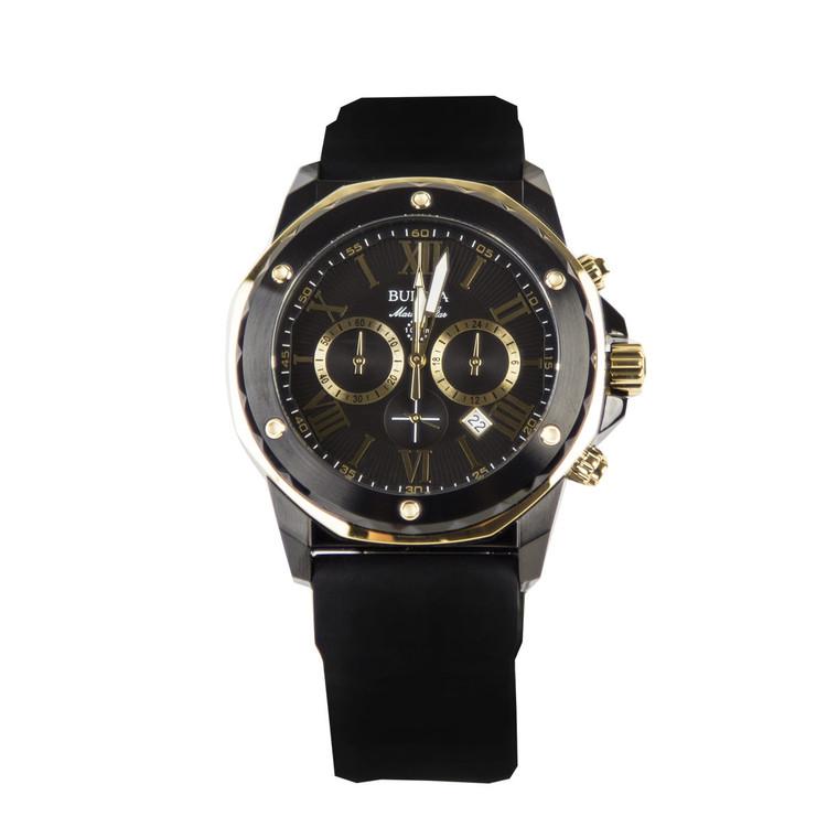 Bulova Marine Star Chronograph 98B278 + Free Travel Clock & Picture Frame Clock
