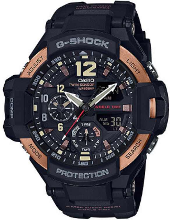 Casio G-Shock Aviation Twin Sensor GA1100RG-1ACR