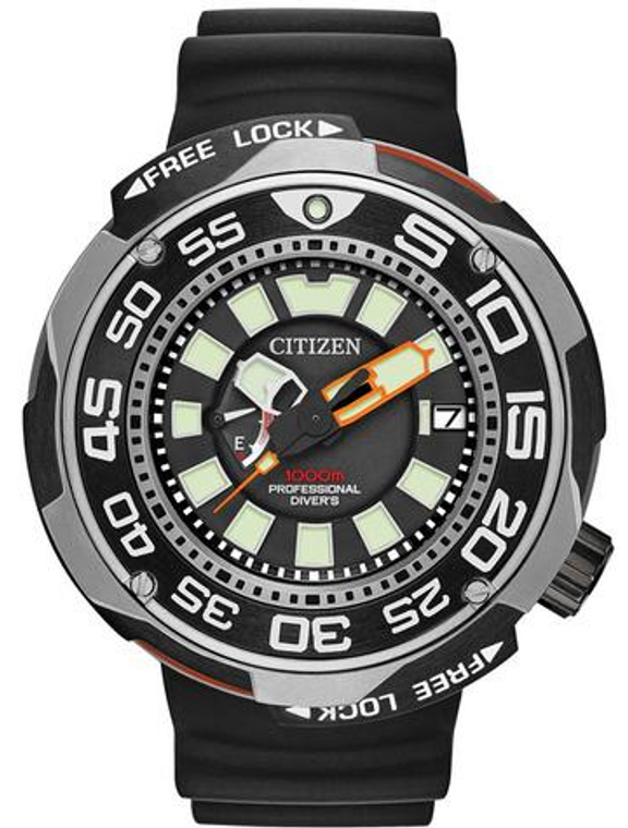 Citizen Rofessional diver Black Super Titanium  BN7020-17E