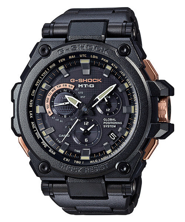 Casio MT-G Metal Twisted G-Shock GPS Hybrid MTG-G1000 MTGG1000RB-1A