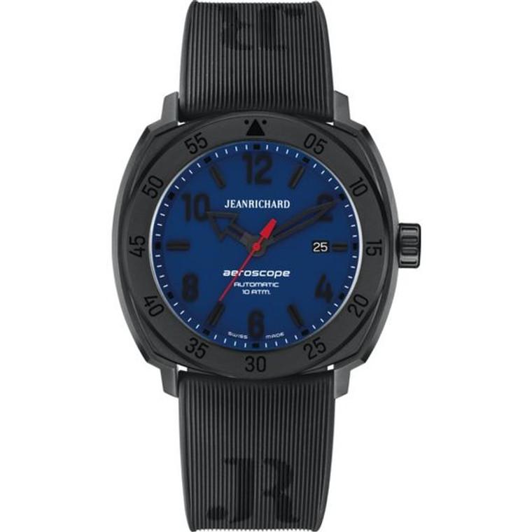 JeanRichard Aeroscope 3 Hand Blue Grained Dial 60660-21B451-FK6A